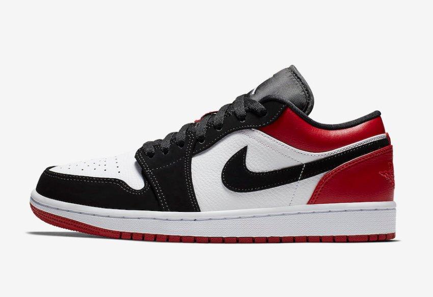 Air Jordan 1 Low Black Toe 553558-116 Release Date