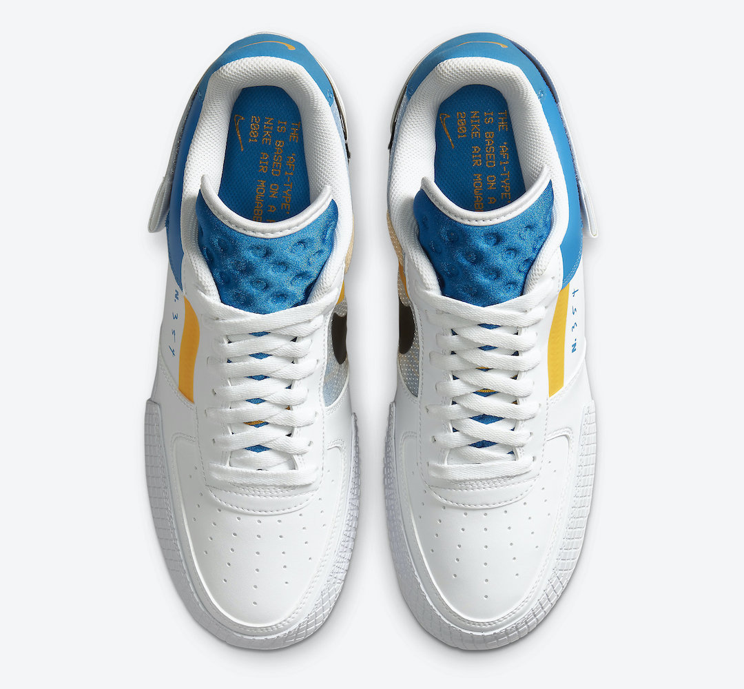 Nike Air Force 1 Type Photo Blue University Gold CK6923-101 Release Date