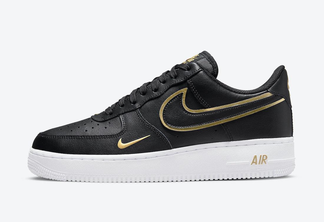 Nike Air Force 1 '07 'Black / Metallic Gold'