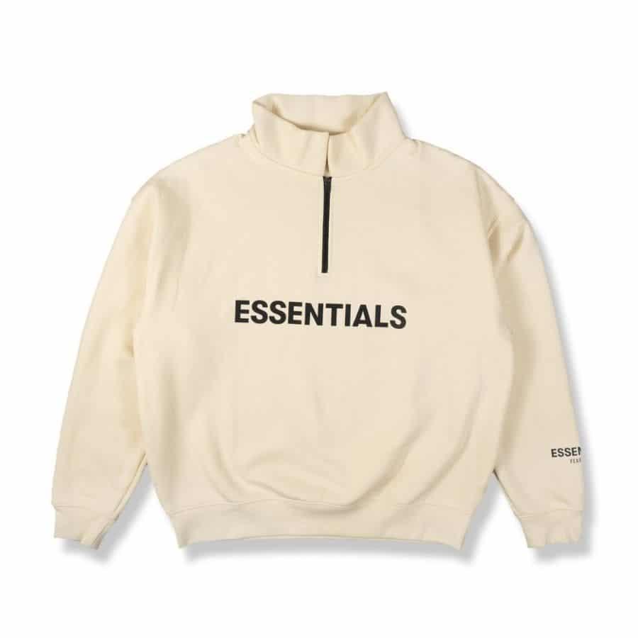 ao-sweater-fear-of-god-essentials-half-zip-pullover-Cream