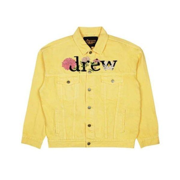 ao-khoac-drew-house-chenille-mascot-trucker-jacket-tangerine-floral