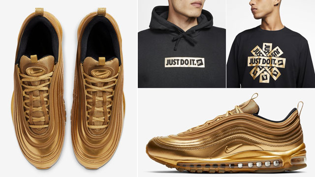 Nike Air Max 97 Gold Medal Clothing Match Sneakerfits Com