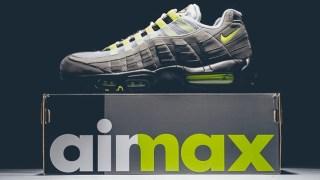 """【2/26】ナイキ エアマックス95 """"イエローグラデ""""復刻 / Nike Air Max 95 OG 554970-071"""