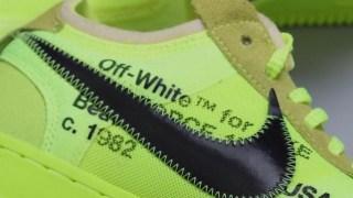 """【12/19】オフホワイト x ナイキ エアフォース1 ロー """"ボルト"""" / Off-White x Nike Air Force 1 Low AO4606-700"""