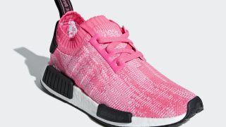 """【8/1】アディダス NMD R1 プライムニット / adidas NMD R1 Primeknit """"Solar Pink"""" AQ1104"""