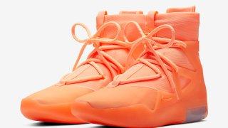 """【6/1】ナイキ エア フィアイブゴッド1 オレンジ パルス / Nike Air Fear of God 1 """"Orange Pulse"""" AR4237-800"""