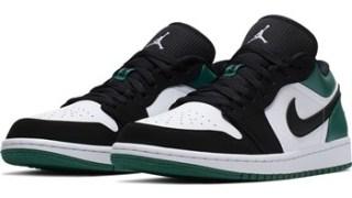 """【発売開始】エアジョーダン1 Low ブラックグリーン / Air Jordan 1 Low """"Black Green"""" 553558-113"""