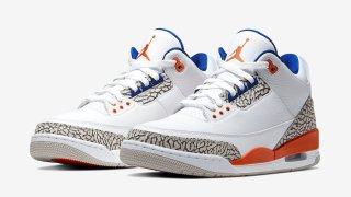 """【9/28】エアジョーダン3 ニックス / Air Jordan 3 """"Knicks Rivals"""" 136064-148"""