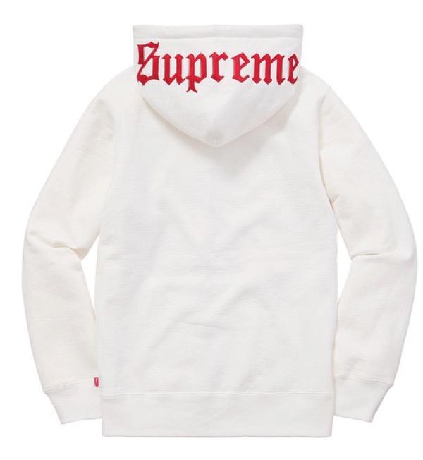 Old English Hooded Zip Up Sweatshirt