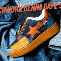 3月7日発売予定 BAPE  Patchwork Denim BAPESTA