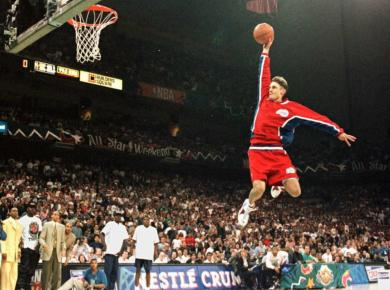 Brent Barry wearing Nike Air Zoom Flight 95 Dunk Contest