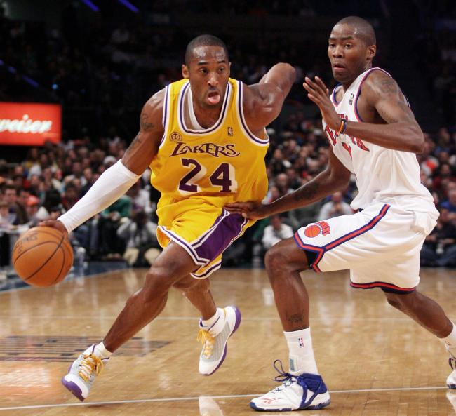 "Kobe Bryant wearing Kobe 3 ""China"" vs Knicks. December 23, 2007. Youngest to reach 20,000 Points"