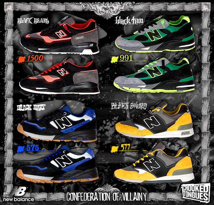 "Crooked Tongues x New Balance ""Confederation of Villainy"" Collection"