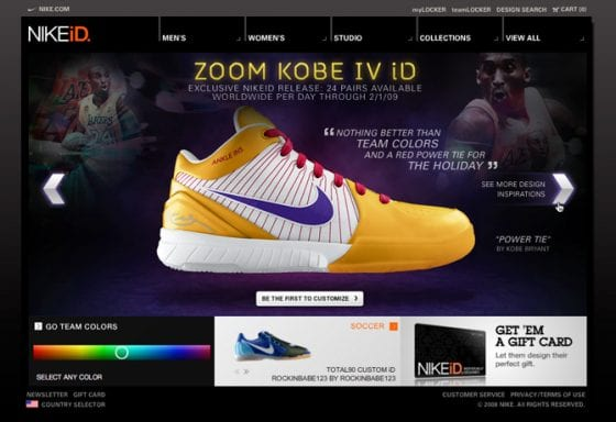 Kobe 4 Nike iD (Photo Cred: NIKE)