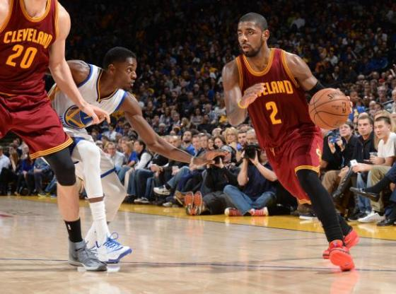 """Kyrie Irving in Nike Kyrie 1 """"Deceptive Red'"""