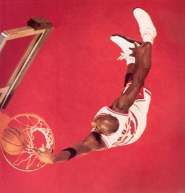 Michael Jordan Wearing the Air Jordan 7