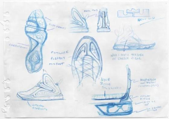 Lebron 9 Sketch  Photo credit: (Nike/ Jason Petrie