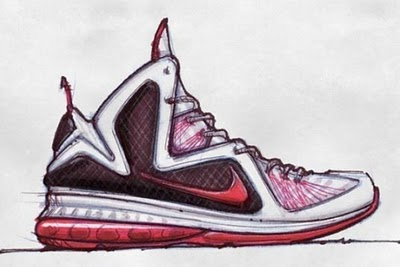 Lebron 9 Sketch via Nike/Jason Petrie