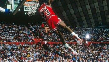 Michael Jordan 1987 Slam Dunk