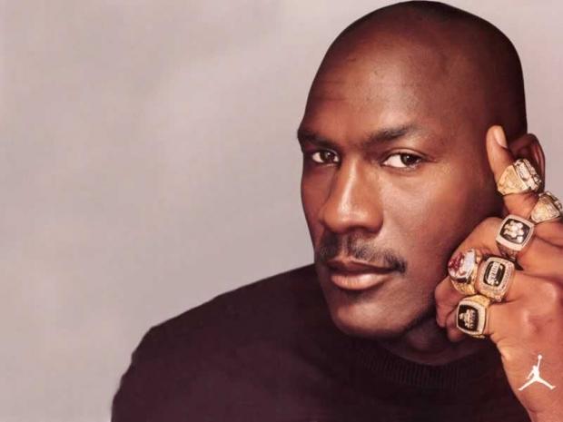 Michael Jordan 6 Rings Poster