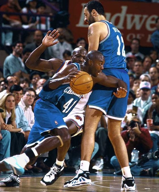Vlade Divac in the Nike Air Max Uptempo 1995. Photo via NBA