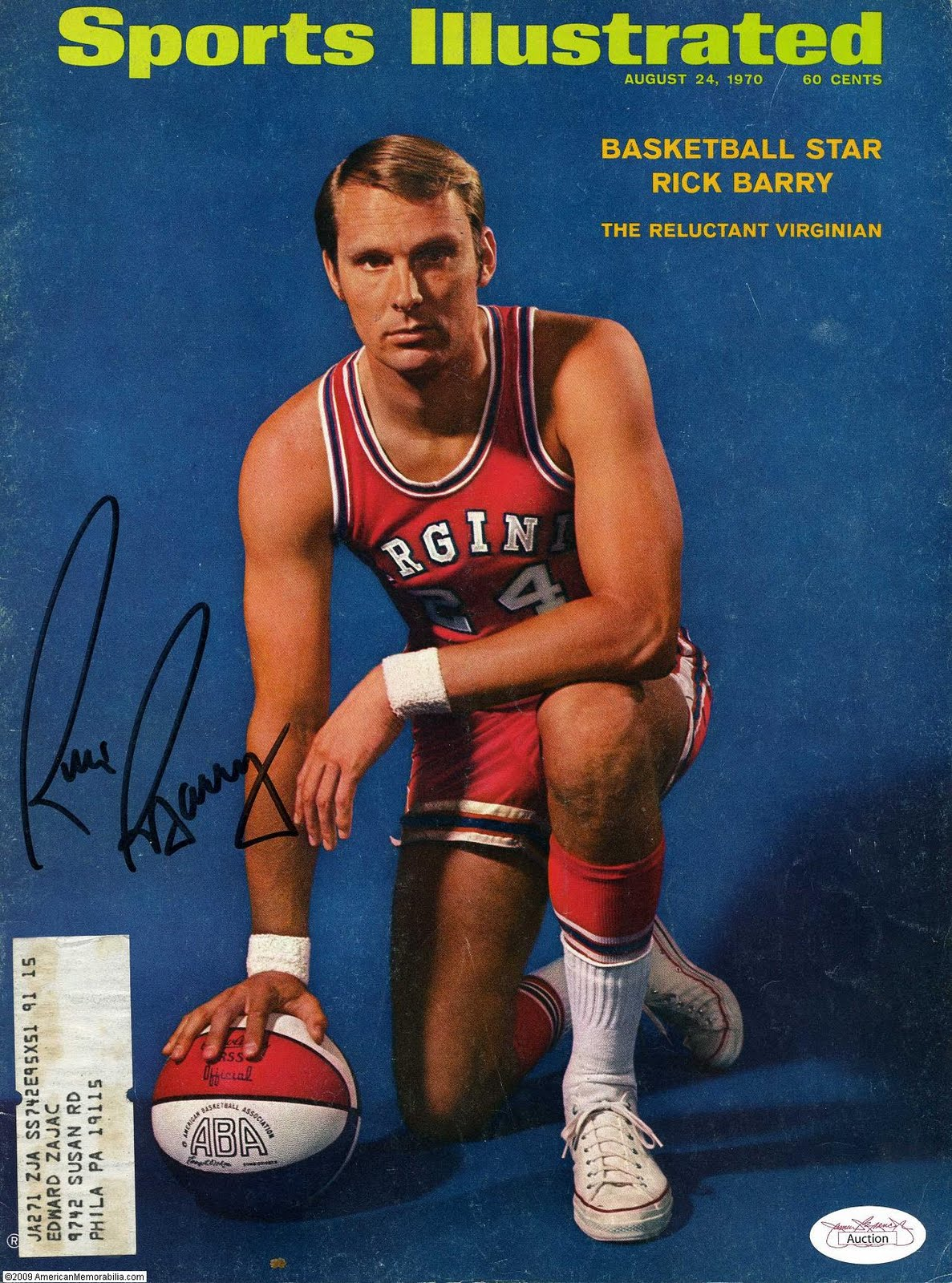 Rick Barry in Converse Chuck Taylor All-Stars Sports Illustrated Cover