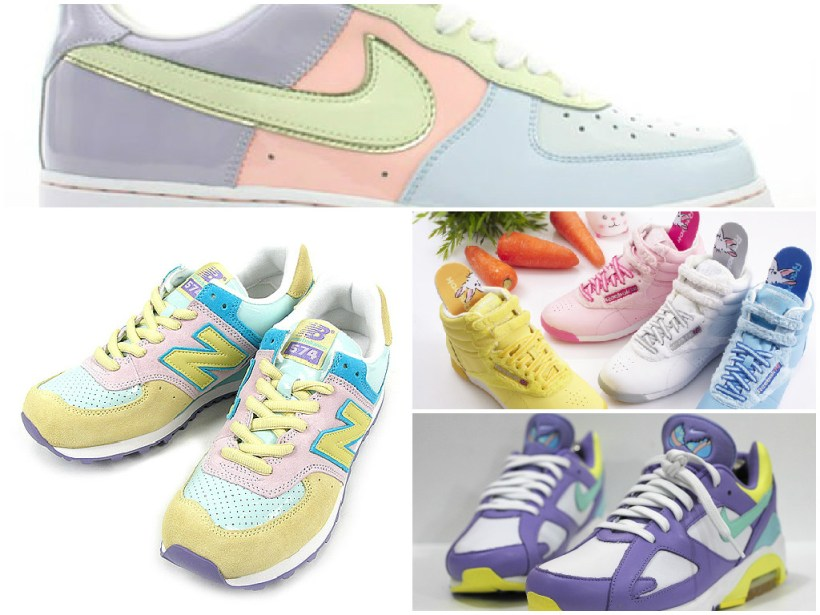 Easter Sneakers Collage