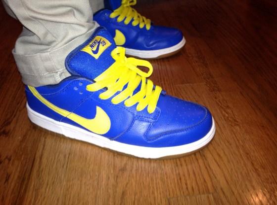 """Nike SB Dunk Low Pro """"Boca Jr"""" Photo via k1cksandclothing"""