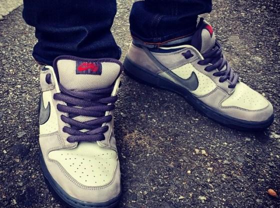 "Nike SB Dunk Low ""Bandaid"" Photo via solepanda23"