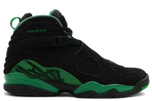 Ray Allen Jordan PEs: Air Jordan 8 Celtics Away Player Exclusive