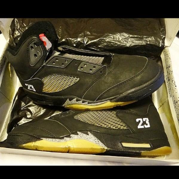 Jordan 5 Black Stitched 23 MJ PE by @gerard_og_vi