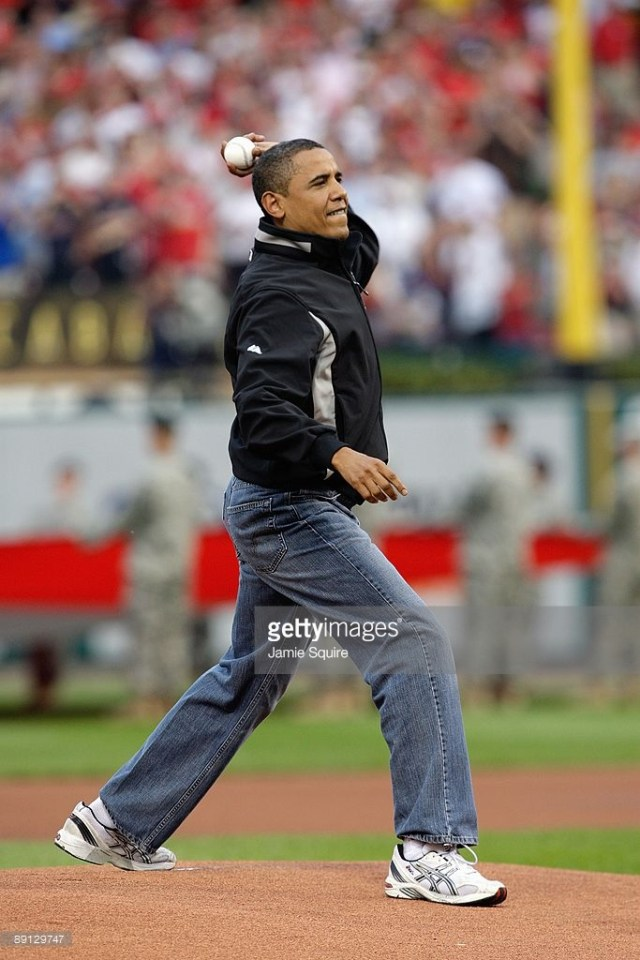 President Barack Obama Throws Out All Star Game First Pitch