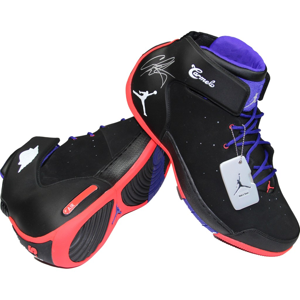 Carmelo Anthony Game Worn Autographed Jordan Melo 1.5