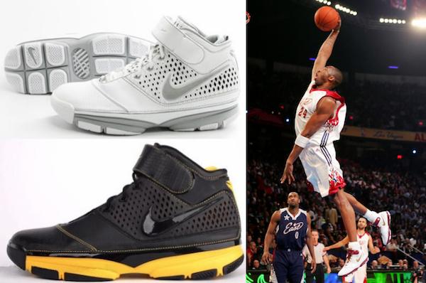 Nike Zoom Kobe II - Nike Zoom Kobe I - Nike Air Zoom Huarache 2K5 - Nike Air Zoom Huarache 2K4 - via Cardboardconnection