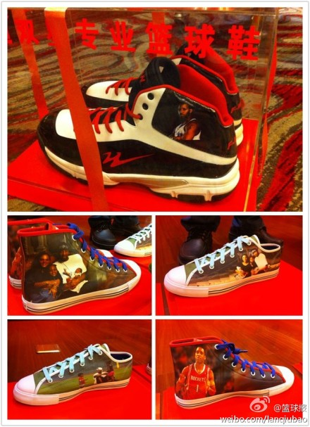 Custom sneakers made for Tracy McGrady's China arrival party in 2012