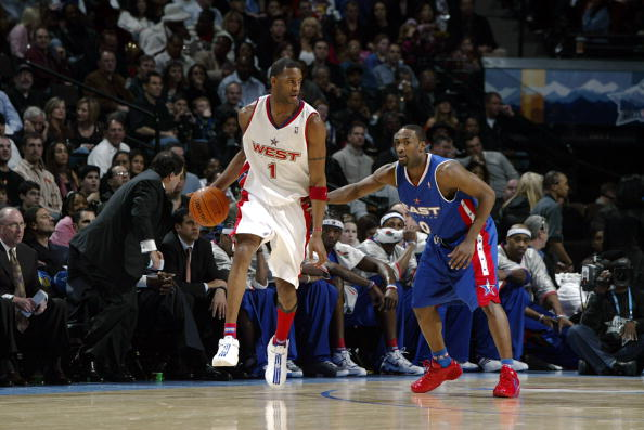 Tracy McGrady in the adidas T-Mac 4.5 at the 2005 NBA All Star Game