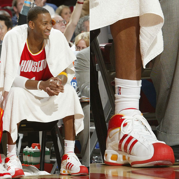 Tracy McGrady wearing the adidas Pro Model S in 2008