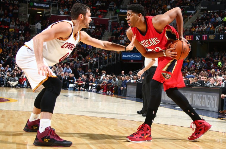 """Kevin Love in 361 """"Cleveland"""" P.E. and Anthony Davis in Nike Hyperposite 2"""