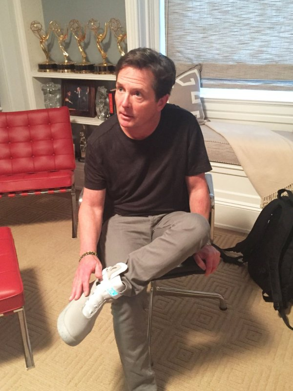 Michael J. Fox in Nike MAG