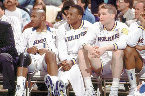 Run TMC - Tim Hardaway, Mitch Richmond, Chris Mullin - Golden State Warriors
