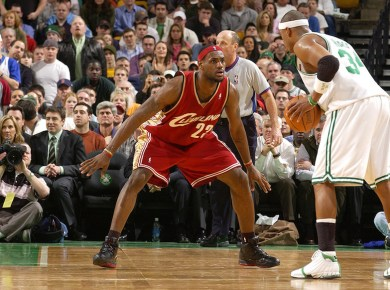 LeBron James in Nike Zoom LeBron III and Paul Pierce in Nike Air Max P2 II