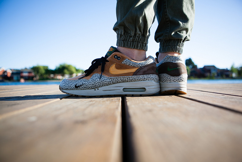 "atmos x Nike Air Max 1 ""Safari"" photo via sling"
