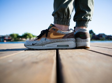 "atmos x Nike Air Max 1 ""Safari"" photo via sling"