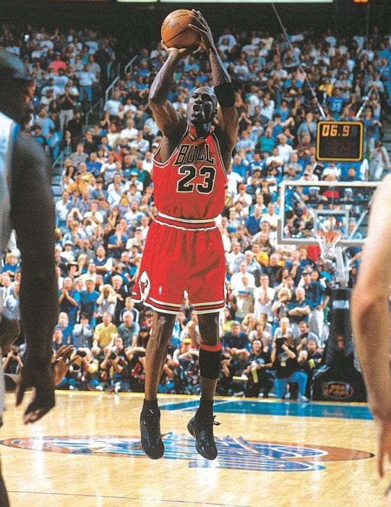 "Michael Air Jordan Photos - The Last Shot (2nd Retirement) in the Air Jordan 14 ""Last Shot"""