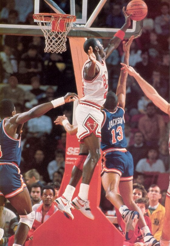 Michael Jordan wearing the Nike Air Alpha Force