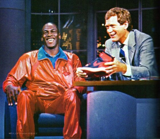 MJ Photos: Michael Jordan on David Letterman