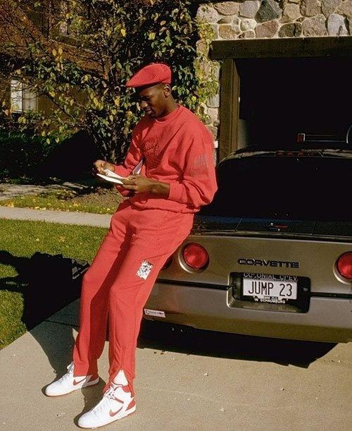 Michael Jordan wearing the Nike Air Force 2