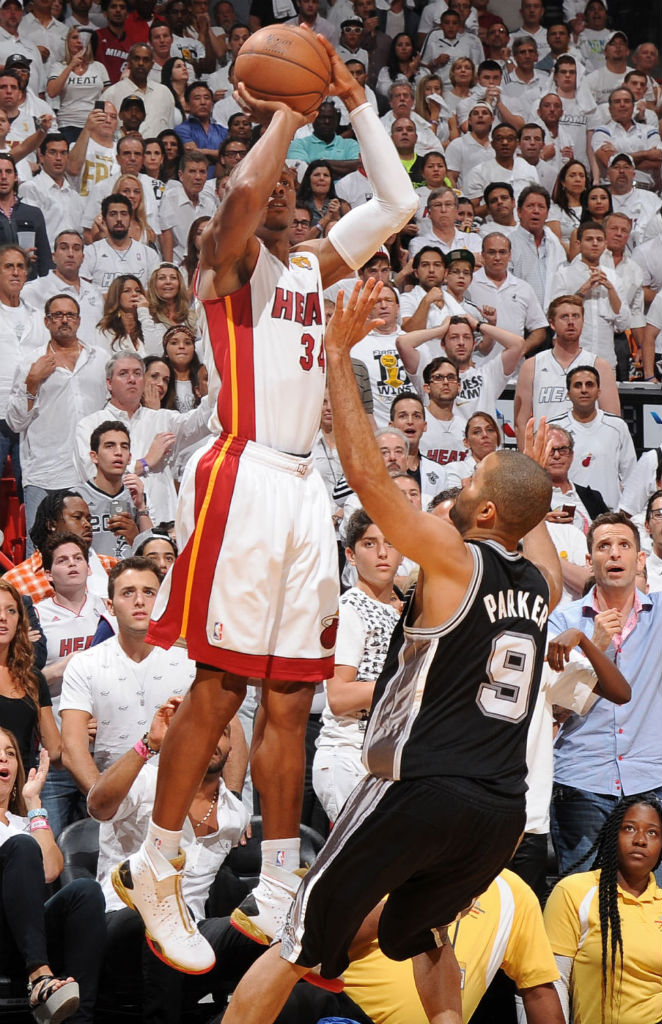 Ray Allen clutch shot in Air Jordan XX8 P.E.