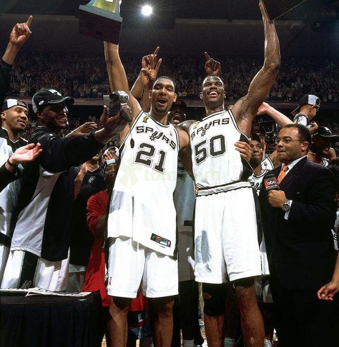 Tim Duncan's Near Quadruple-Double Helps Spurs Win 2003 NBA Championship