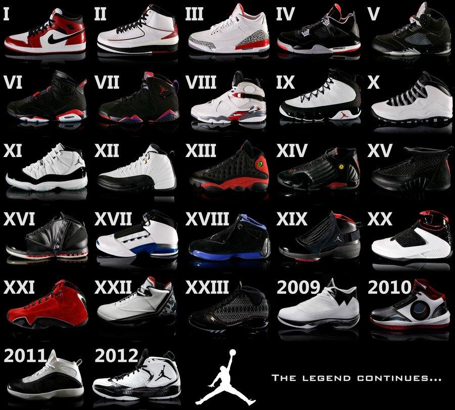 jordan all models shoes